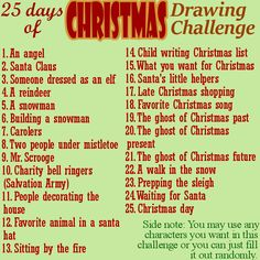 25 Day Christmas Drawing Challenge by The-Tabbycat-Witch on DeviantArt