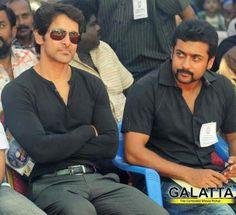Tamil movie actors Vikram and Surya