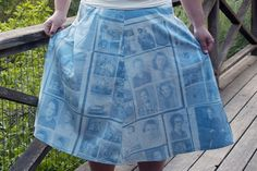 inkodye (light sensitive dye) and negatives make adorable skirts! flaunt your love of history fashionably!