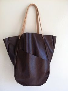 999212e5d06b Large Brown Leather Bag in Hayes Valley