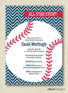 baseball baby shower invitations templates | Baby Shower ...