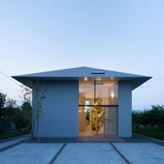 Airhouse Design Office creates a hierarchy  of rooms inside House in Ohno