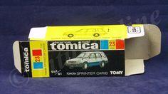 TOMICA 023C TOYOTA SPRINTER CARIB | 1/61 | ORIGINAL BOX ONLY | 1983 JAPAN (B)