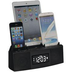 Dok Cr28 3-Port Smartphone Charger With Speakerphone & Alarm Clock
