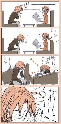 Kamui: k. Hakkenden, Makoharu, Okikagu, Anime Figures, Awesome Anime, Doujinshi, Cute Love, Anime Couples, Otaku