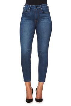 """Ultra high rise jean. Gap proof waistband. Ultra skinny. Medium blue wash denim. 29"""" inseam. Made in Los Angeles with imported materials. 47% Cotton 