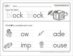 Consonant Blends (bl): Phonics Learning Mats