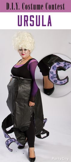 Coolest homemade ursula costume ursula costumes and halloween how amazing is this diy ursula costume to scare the lil mer solutioingenieria Image collections