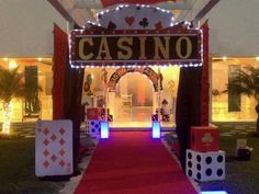 Casino sign and use fairy battery lights casino night party, las vegas party, casino Tema Las Vegas, Las Vegas Party, Vegas Theme, Casino Night Party, Casino Party Decorations, Casino Theme Parties, Party Themes, Party Ideas, Fète Casino