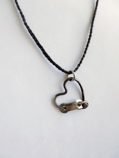 Bicycle Spoke Necklace Heart Pendant Bicycle by Winterwomandesigns, $21.00