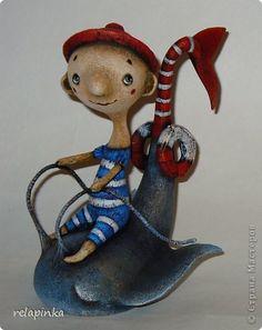 Куклы Папье-маше Спасатель Бумага фото 3