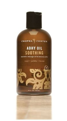 Chopra Center Massage Oil Soothing ABHY Oil 8oz Bottle  Made with BEST Organic and Essential Oils to Cool Settle and Focus the Mind  Body  Professional Ayurvedic Oil to Balance Pitta * Check out the image by visiting the link.