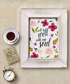 Bible Verse PRINTABLE Watercolor Flowers by PrettyPlusPaper