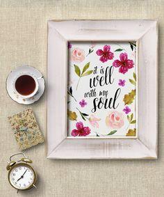 Bible Verse PRINTABLE Watercolor Flowers by PrettyPlusPaper