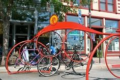 Cool bicycle rack