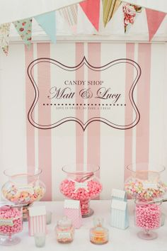 How pretty is this personalised Candy Shop?!