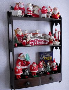 Vintage plastic Santa shelf. Not mine, but could be.