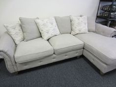 Small Sectional Sofa Cozy Sectional Sofa with Chaise down and feather filled cushions Regular Price
