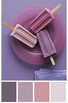 1st choice of paint colour: on far right, Martha Stewart Living Cotton Candy #MSL176