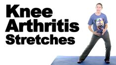 These knee arthritis stretches will help stretch out the muscles above and below the knee joint to help relieve knee pain from arthritis. More knee arthritis. Rheumatoid Arthritis Symptoms, Arthritis Remedies, Juvenile Arthritis, Stretches For Knees, Knee Strengthening Exercises, Knee Arthritis Exercises, Osteoporosis Exercises, Sciatica Exercises, Physical Therapy