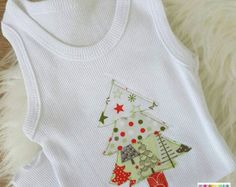 SIZE 00 Christmas Singlet for baby || Size 3 - 6 months || Baby boy || Baby girl || Unisex