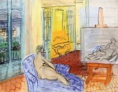 A Model in the Studio on the Place Arago in Perpignan - Raoul Dufy - The Athenaeum