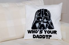 Decorative pillow case ofDarth Vaders head and by ThePillowWorld