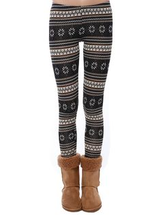 Fair isle knit leggings $13.99  #fair isle #pattern #kinit #leggings