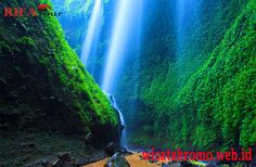 Air Terjun Madakaripura dekat Gunung Bromo