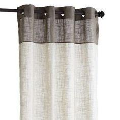 "Blythe Colorblock Curtain - Taupe 84"""