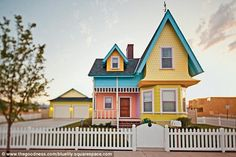 "Couple's recreation of ""Married Life"" from Disney's UP captured in real-life replica of house. How freaking cute is this???"