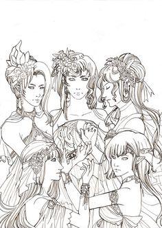 The Muses by =vanlau