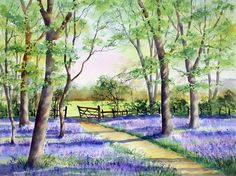 Ann Mortimer's Painting Blog: Fifty shades of blue...