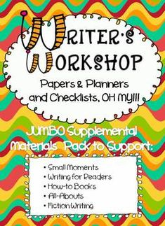 new supplemental materials for writer's workshop