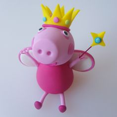 [ Cake Model/ Topper ] – Princess Peppa Pig and Family Cake Models/ Toppers. Fondant Figures, Tortas Peppa Pig, Peppa Pig Birthday Cake, Peppa Pig Family, Cake Models, Family Cake, Cake Templates, Un Cake, Pig Party