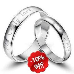 925 pure silver jewelry lovers ring on AliExpress.com
