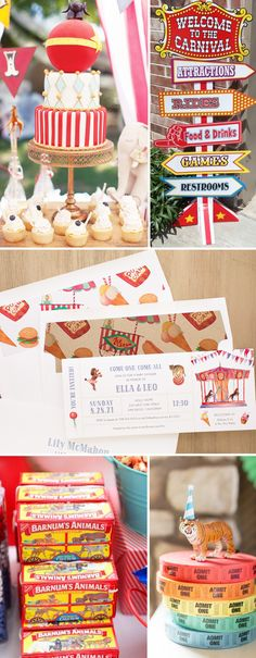 Under the Big Top! Circus Themed Baby Shower/Kids Party Invites with matching envelope liners. New from Beacon Lane!