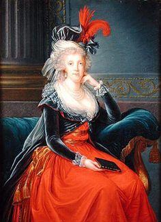 Élisabeth Vigée Le Brun - Portrait de Marie-Caroline d'Autriche