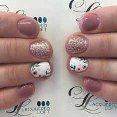 Soft and subtle florals #nails #gelnails #lacqueredloft #nailstagram #nailart #handpaintednailart #oremnails #utahcountynails