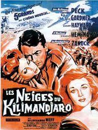 Las nieves del Kilimanjaro dirigida por Henry King. Guión de Ernest Hemingway y Casey Robinson.