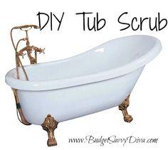 How to Make Tub Scrub | Budget Savvy Diva