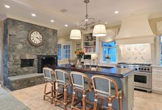 I have always wanted a fireplace in the kitchen