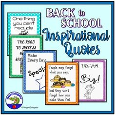 Beginning of the year classroom forms for middle school teachers back to school posters and inspirational quotes handout by happyedugator fandeluxe Image collections