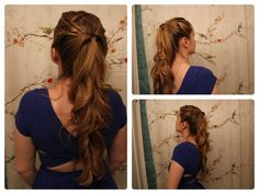 Game of Thrones Inspired Hair: Margaery Tyrell's Half Ponytail. | I thought this was really cute.