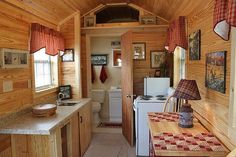 tiny house interior- wish I could see the living room and bed area