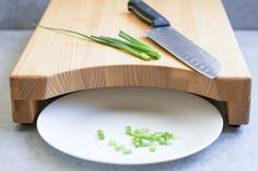 Raised Cutting Board with Cutout by LookingGlassLodge on Etsy