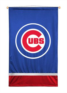 MLB Chicago Cubs  Wall Hanging - 45 in H x 29.5 in L - Includes Rod and String