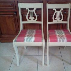 Chalk Paint by Annie Sloan Country Grey chairs