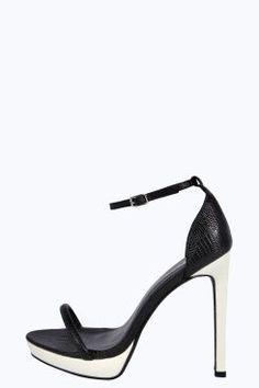 48f243abf056 Maria Two Part Mono Skinny Heels at boohoo.com Womens Fashion Online