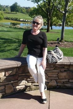 Casual Outfit in Black and Cream By A Well Styled Life #fashion #fashionover50 #awellstyledlife